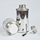 Cone Top Tin Containers and Brush Cap
