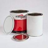 Plain White & Printed Lever Lid Tins