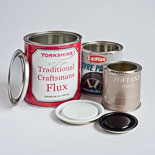 Medium and Small Lever Lid Tins with Lids